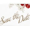 Red Floral Save The Date Card